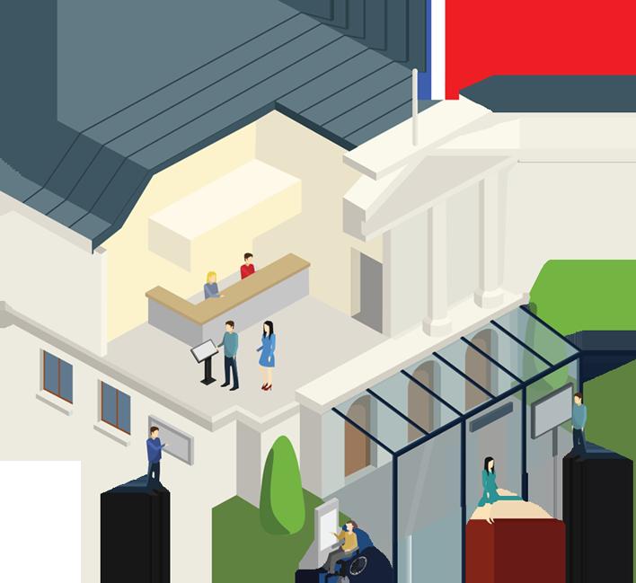 Affichage légal dynamique - solution digitales mairies et collectivités - gestion de l'affichage légal - création d'interface tactiles : totem outdoor, pupitre tactile, caisson outdoor