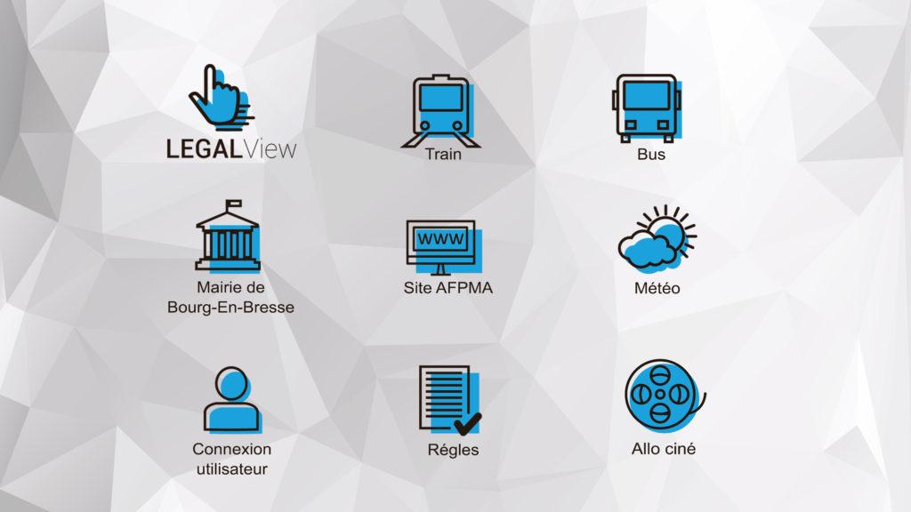 Solution de conception de menus pour écrans tactiles et de création d'interfaces interactives pour les mairies et collectivités - affichage dynamique - écrans HD , moniteurs grande taille, totem Outdoor, borne extérieure, pupitre orientable, table tactile