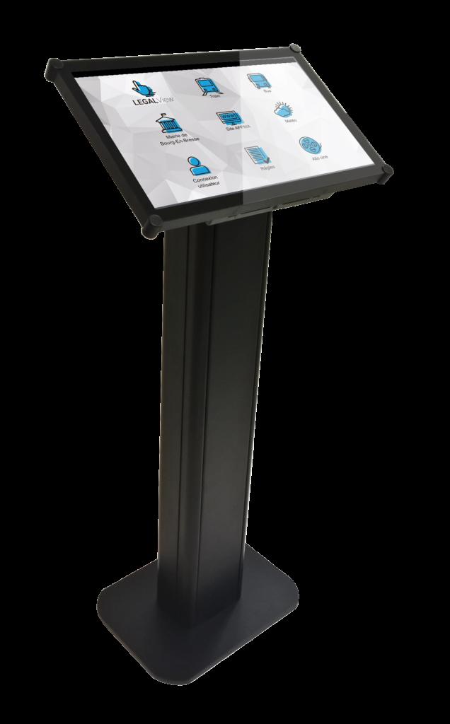 Solution digitale TACTILView Collectivités - création d'interface tactiles - création de menus pour écrans tactiles - outils interactif de création d'interfaces tactiles - Pupitre 22''