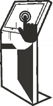 Affichage dynamique en Collectivité et Administration publique : Pupitre tactile - Borne d'information